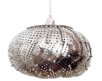 Repurposed Vegetable Steamer Hanging Lamp