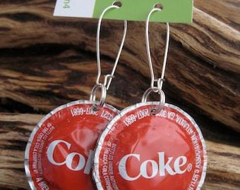CocaCola Bottle Cap Earrings