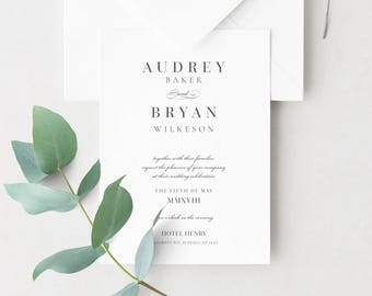 Audrey Wedding Invitation Suite