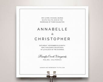 Annabelle Wedding Invitation Suite