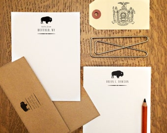 Buffalo Notes, Personalized Stationery
