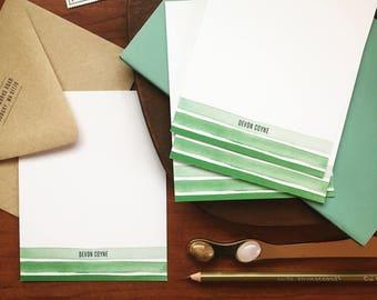 Ombré Stripe, Personalized Stationery