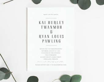 Modern Love Wedding Invitation Suite