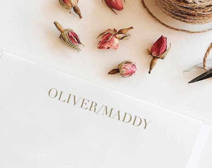 Featured listing image: Questa, Personalized Stationery
