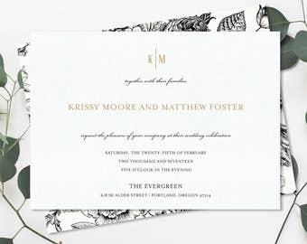 Romantic Flourish Wedding Invitation Suite