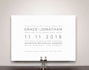 Grace Wedding Invitation Suite