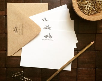 Just Ride Note Cards, Personalized Stationery