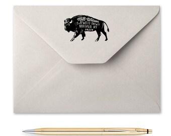 Bison Return Address Stamp