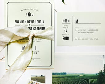 Cascade Wedding Invitation Suite