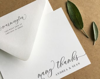 With Gratitude, Personalized Stationery