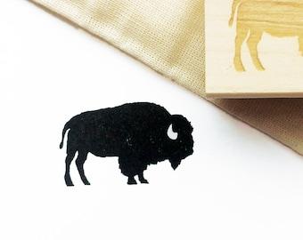 "Buffalo Rubber Stamp, Small, 1.5"" x 1"""