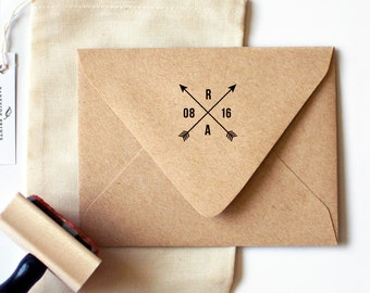 Arrow Monogram Date Stamp