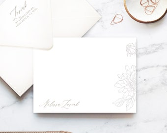 Dahlia Notes, Personalized Stationery