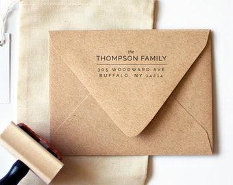 Raleway Return Address Stamp