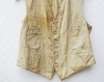beautiful & stained 1800s mens vest