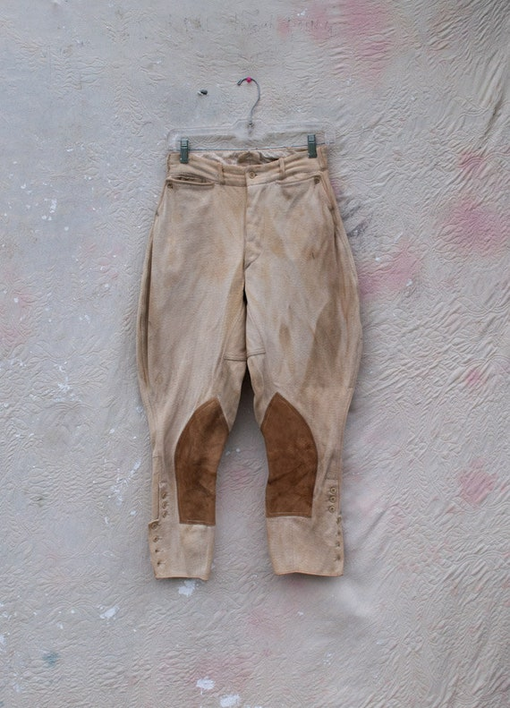 stained antique breeches