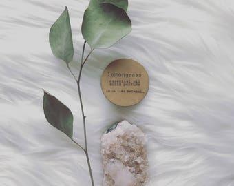 lemongrass solid perfume