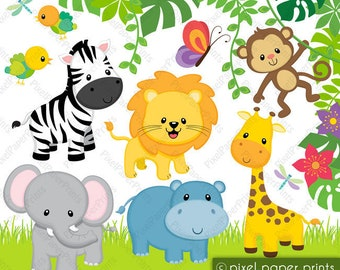 safari clipart etsy