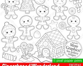 Gingerbread Wonderland Digital Stamps Set
