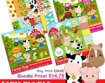 Farm Bundle - Farm clipart - Bundle price