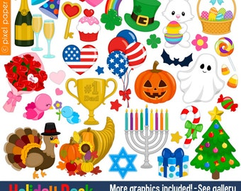 Holiday Pack - Clip art set - Holiday clipart