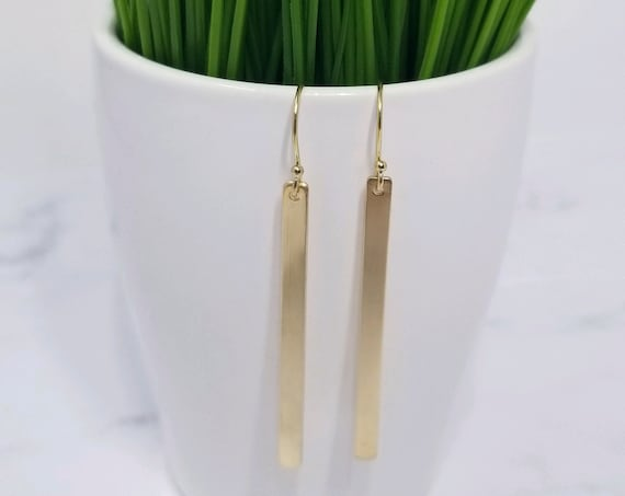 Gold Fill Bar Earrings