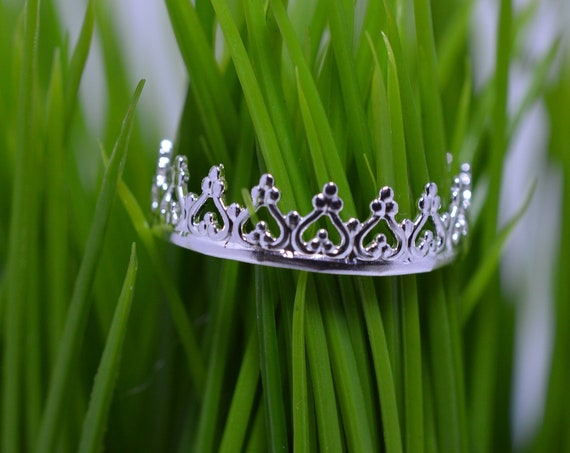 Crown Ring Sterling Silver - Princess, Queen, Royalty Filigree Stack Ring- Style 2 - 925