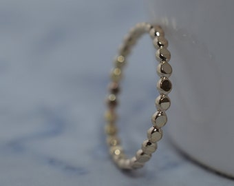 Gold Fill Bubble Ring - Gold Dots Stack Band