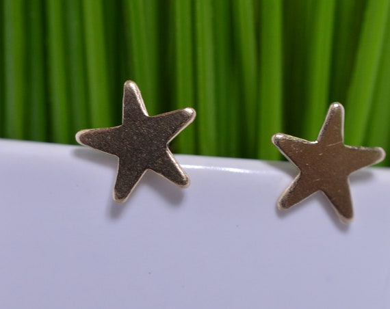 Small Gold Fill Star Earrings - Small Gold Star Earring (Pair)