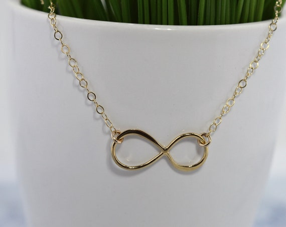 Gold Fill Infinity Necklace