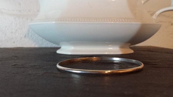 Simple Sterling Silver Bangle Bracelet