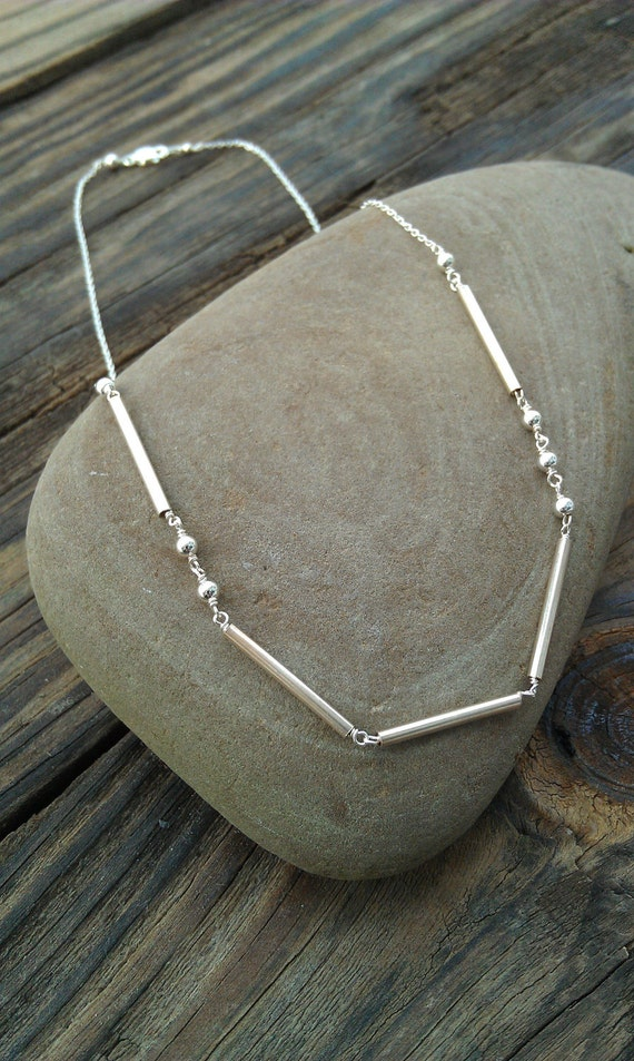 "Sterling Silver Morse Code Necklace ""Love""- Custom Name/Word Necklace"