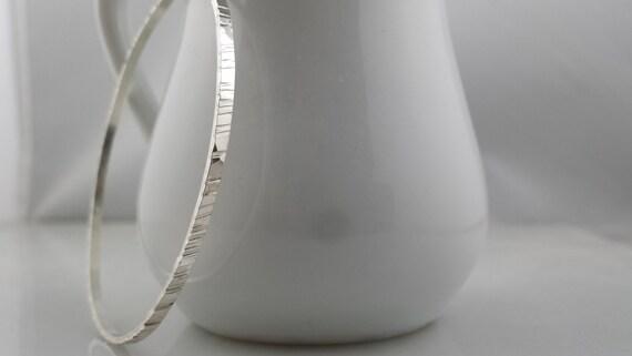Textured Bangle Bracelet in Sterling Silver