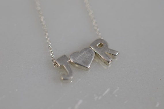 Custom Sterling Silver Initial Necklace - choose your letter, word  or initials