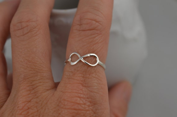 Infinity Ring Sterling Silver / 925 Love Ring