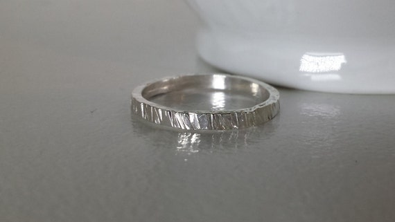 Simple Sterling Silver Textured Ring