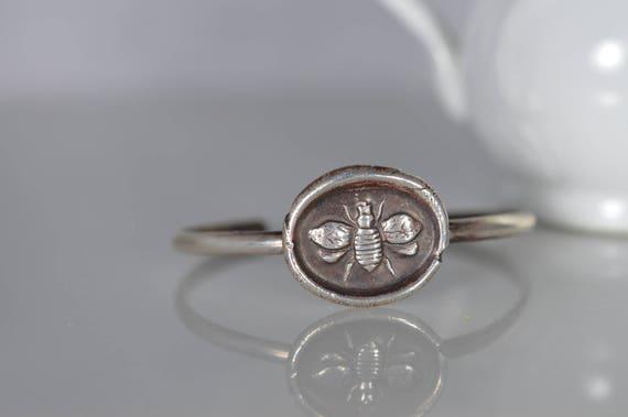 Sterling Silver Honey Bee Cuff Bracelet