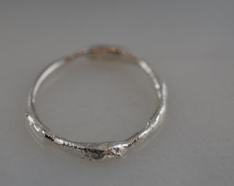Sterling Silver Free Form Twig Ring