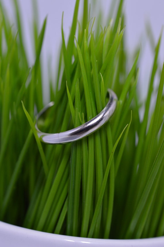 Simple Sterling Silver Ring Band - Silver Wedding Band