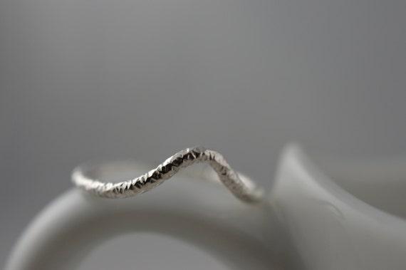 Sterling Silver Starburst Chevron Ring - Midi or Regular Chevron Ring