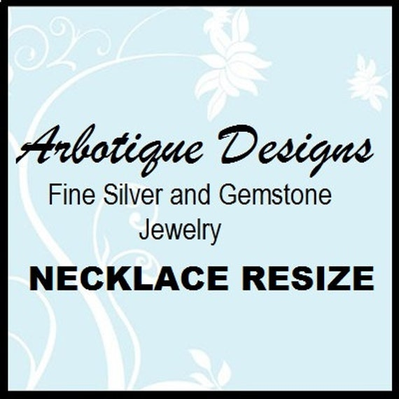 Necklace Resize with Return Shipping