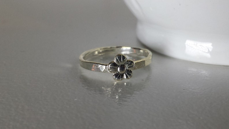 Sterling Silver Flower Ring image 0