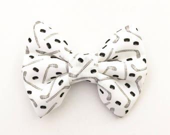 The Hockey Handmade Bow (Handmade Bow / Bow Tie / or Headband)