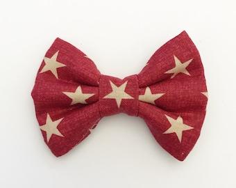 The Lone Star Handmade Bow (Handmade Bow / Bow Tie / or Headband)