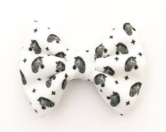 The Zebra Heads Handmade Bow (Handmade Bow / Bow Tie / or Headband)