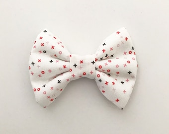The X's and O's Handmade Bow (Handmade Bow / Bow Tie / or Headband)