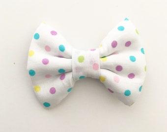 The Spring Dots Handmade Bow (Handmade Bow / Bow Tie / or Headband)