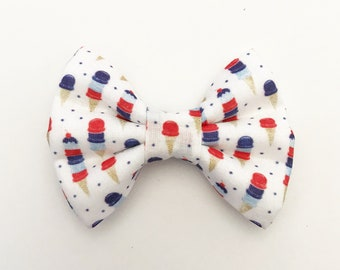 The American Ice Cream Handmade Bow (Handmade Bow / Bow Tie / or Headband)