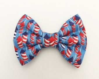 The Fireworks Handmade Bow (Handmade Bow / Bow Tie / or Headband)