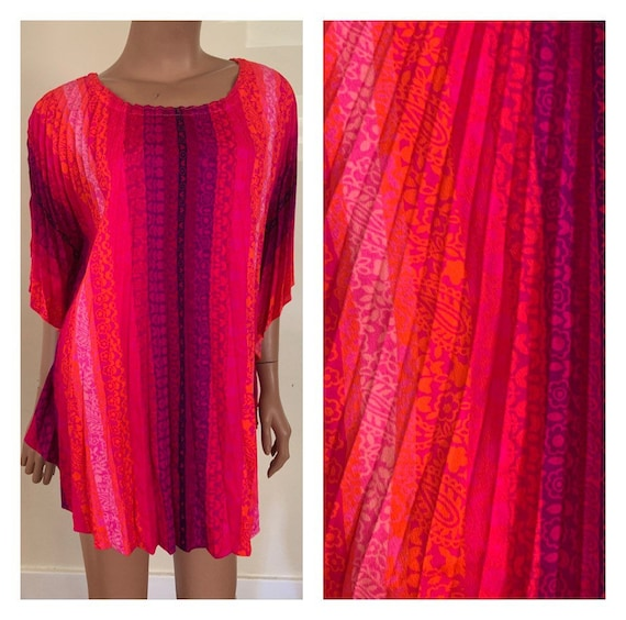 1960s Psychedelic Poncho 60s Poncho Neon Poncho Ps